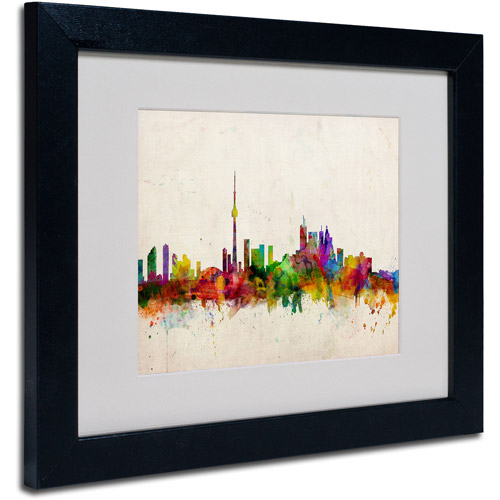 Trademark Art 'Toronto Skyline' Matted Framed Art by Michael Tompsett