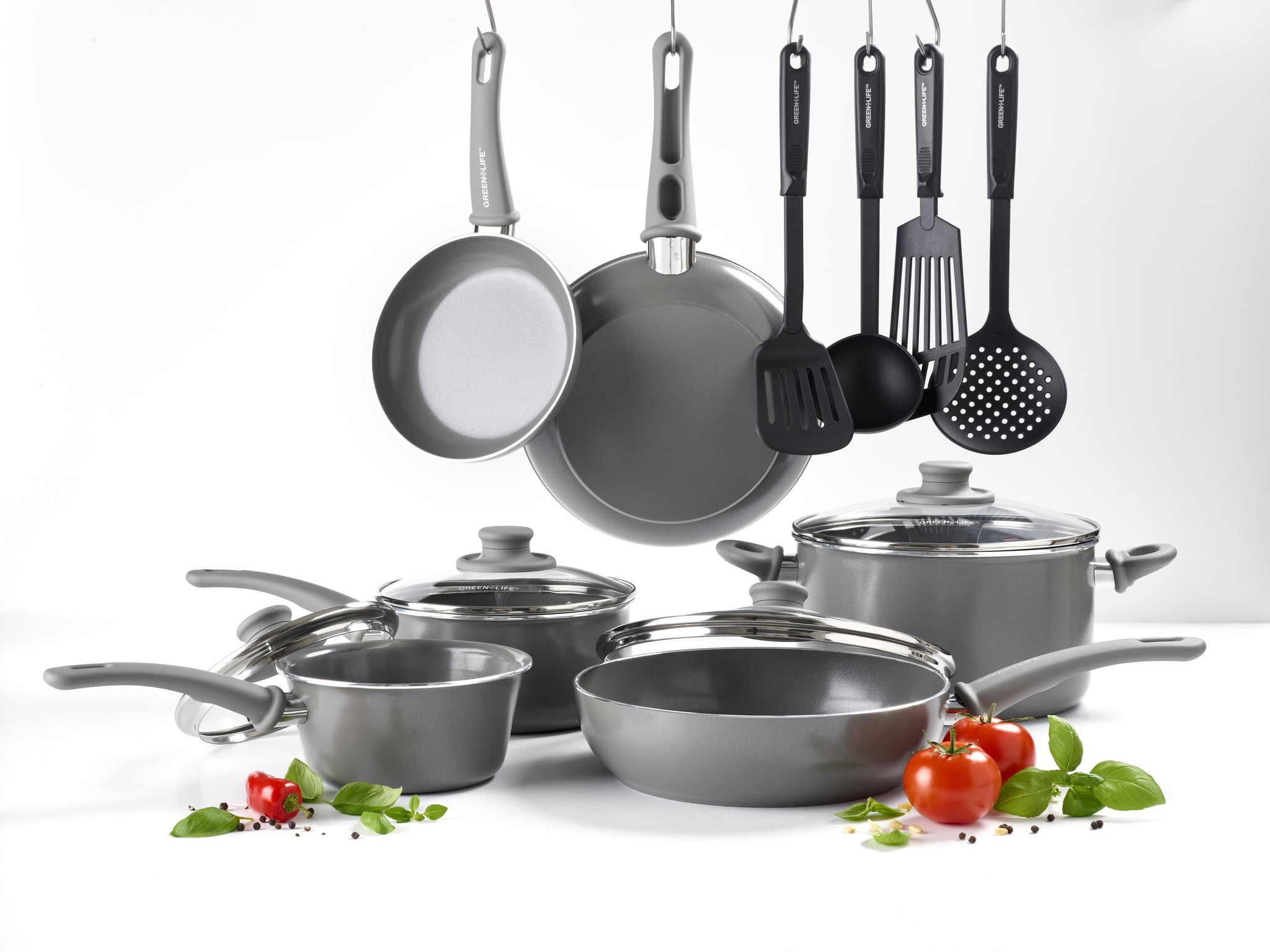 Greenlife Ceramic Non-stick Cookware 14 Piece Cookware Set