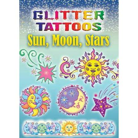 Glitter Tattoos Sun, Moon, Stars - Glitter Tatoos