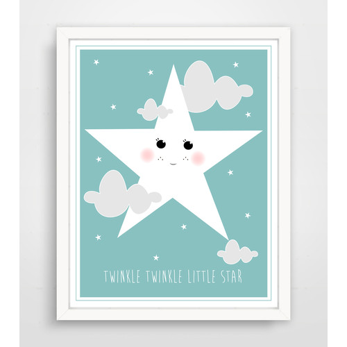 Finny and Zook Twinkle Twinkle Smiling Star Paper Print