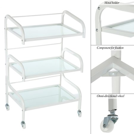 Hair Drawers Glass Salon Trolley Rolling Cart Salon Storage Hair Colouring Cart Hair Trolley for Barber Hairdressing