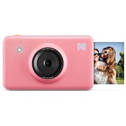 Kodak Mini Shot Wireless Instant Digital Camera & Portable Photo Printer, LCD Display, Compatible w/iOS & Android (Pink) Limited Editon with Kodak Tote Bag
