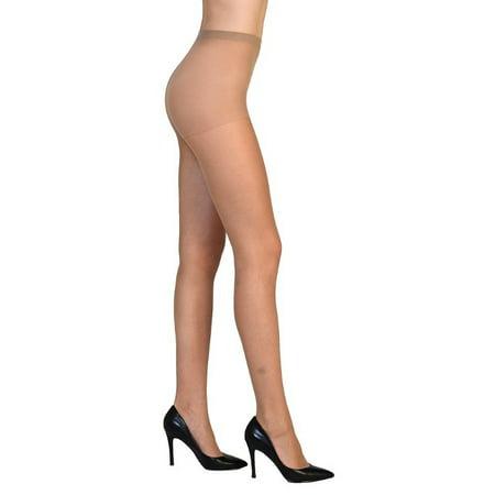 Vivien Women High Support Reinforced Toe Pantyhose Sheer Tights Hosiery