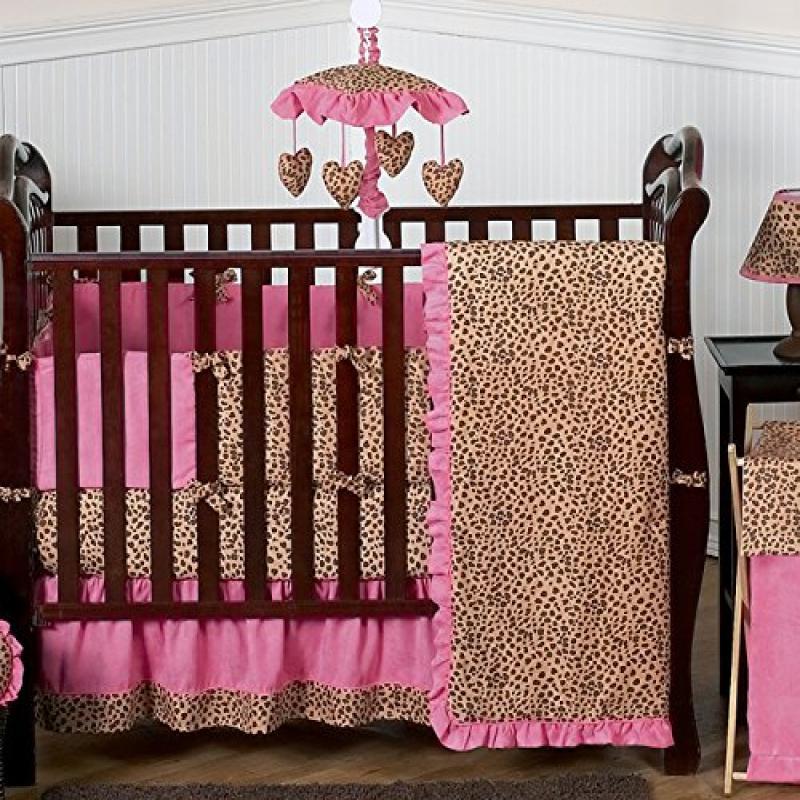 Sweet Jojo Designs Cheetah Animal print Pink and Brown Ba...
