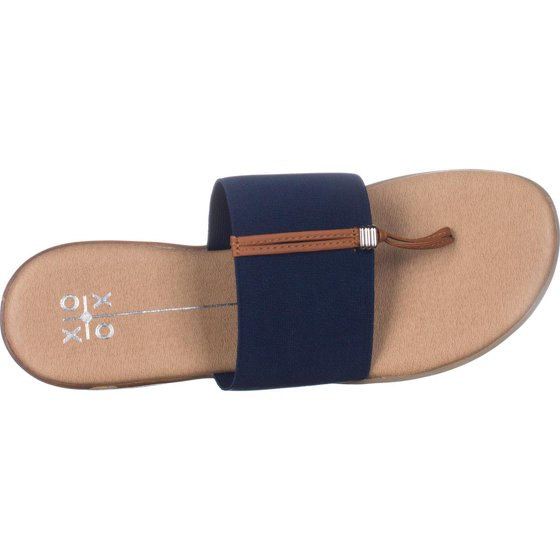 f52265eaf94b1 Womens XOXO Bennett Flat Thong Sandals, Navy