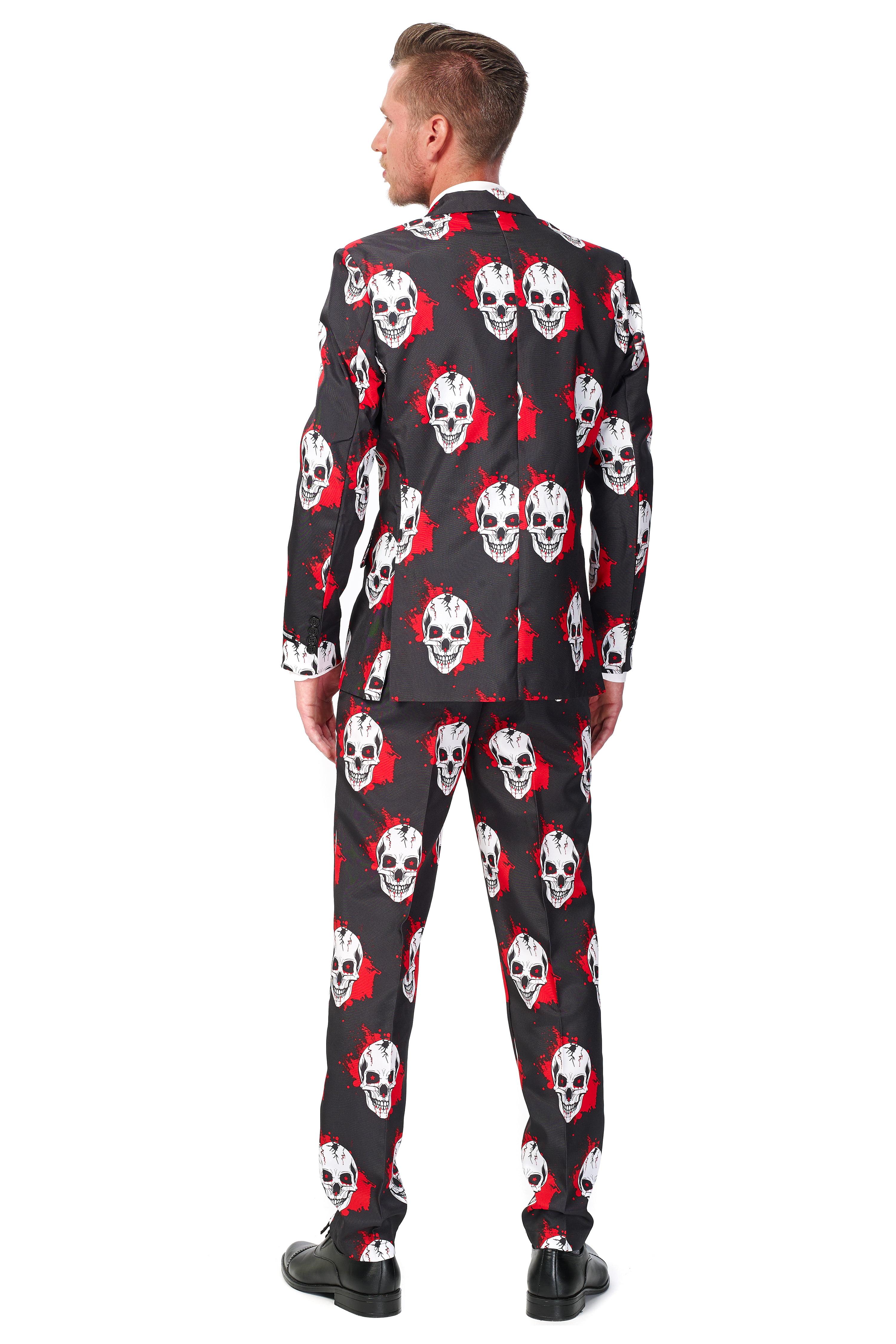 951310f82d9052 Opposuits - Suitmeister Men's Skull Blood Halloween Suit - Walmart.com