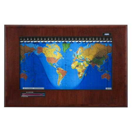 Geochron geochron boardroom model world wall clock walmart this button opens a dialog that displays additional images for this product with the option to zoom in or out gumiabroncs Choice Image