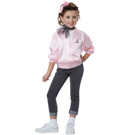 50's Satin Varsity Jacket Child (50's Girl Costume Accessories)
