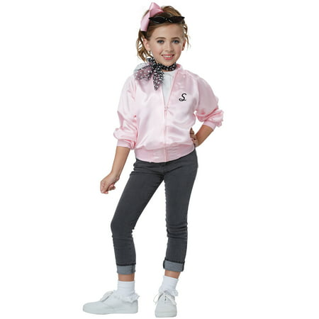 50's Satin Varsity Jacket Child Costume](Halloween Costumes 50's Girl)