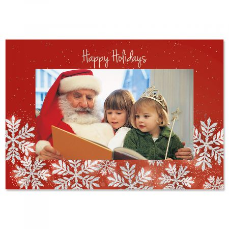 Winter Holiday Photo Sleeve Christmas Cards - Set of 18