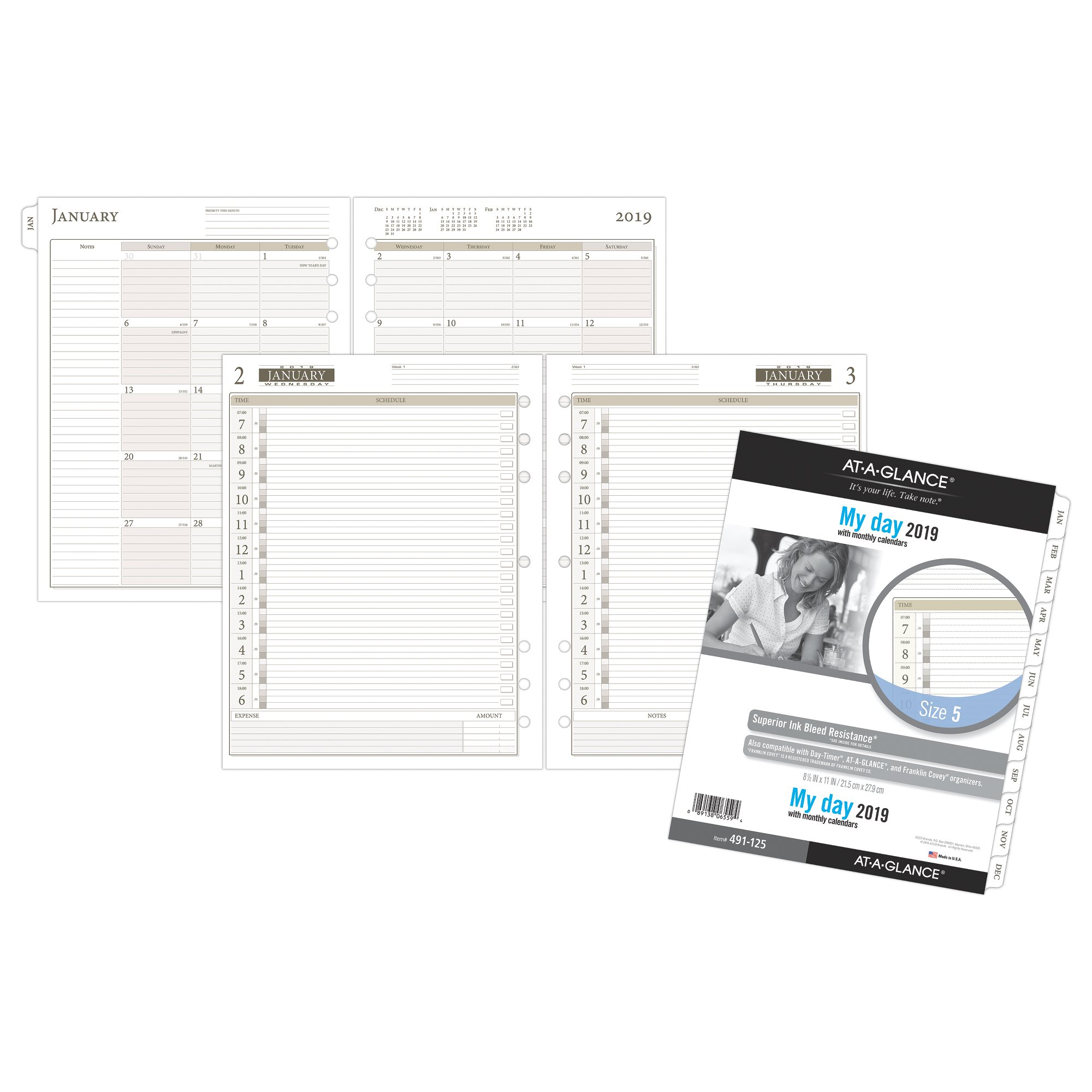 AT-A-GLANCE Day Runner 1-Page-Per-Day Planner Refill Size 5 Daily Planner by AT-A-GLANCE Day Runner