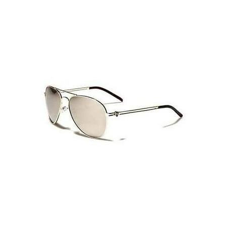 NEW Classic Retro Mens Fashion Metal Silver Mirror Aviator's Vintage - Silver Mens Fashion