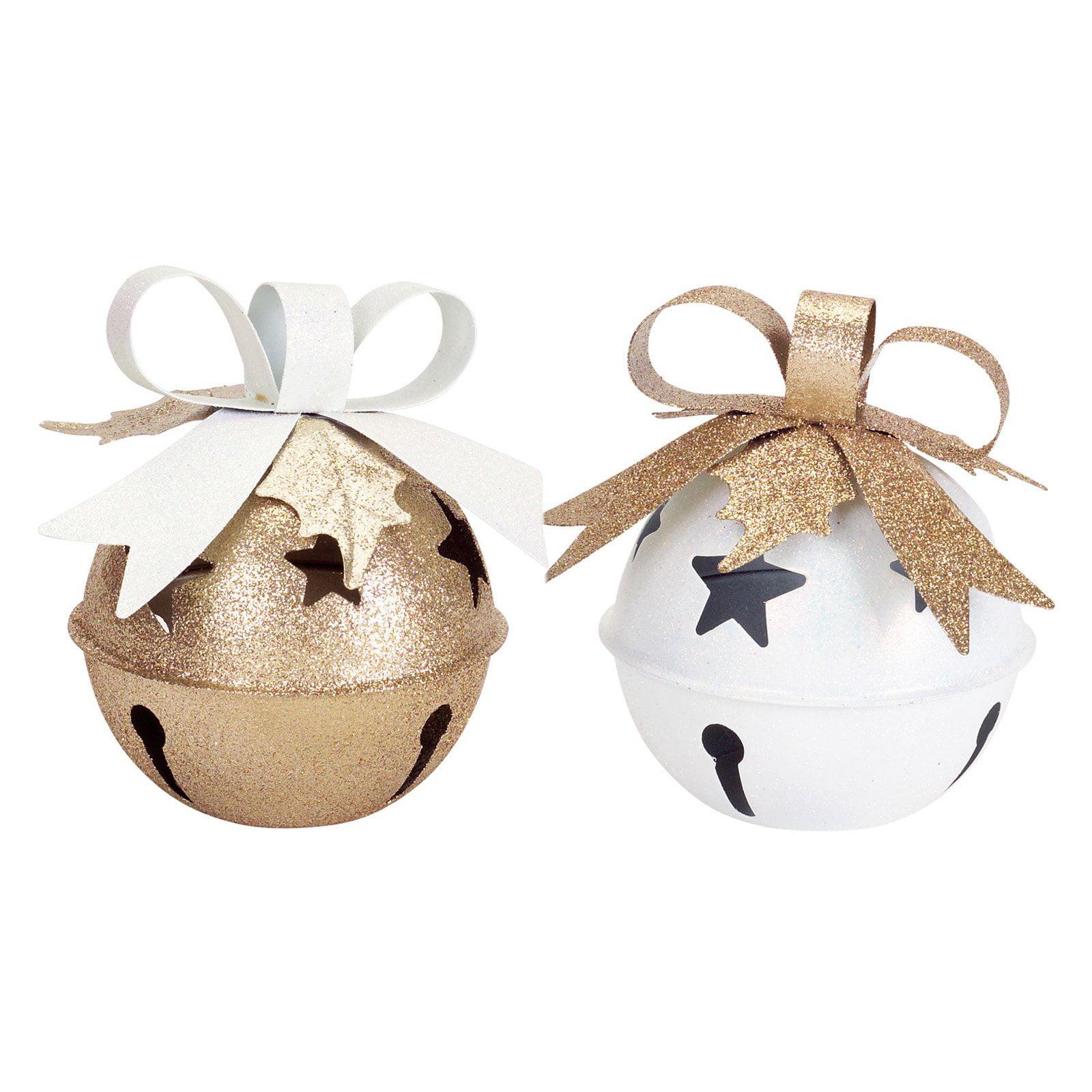 Melrose 7.5 in. Jingle Bell Tea Light Holder Set