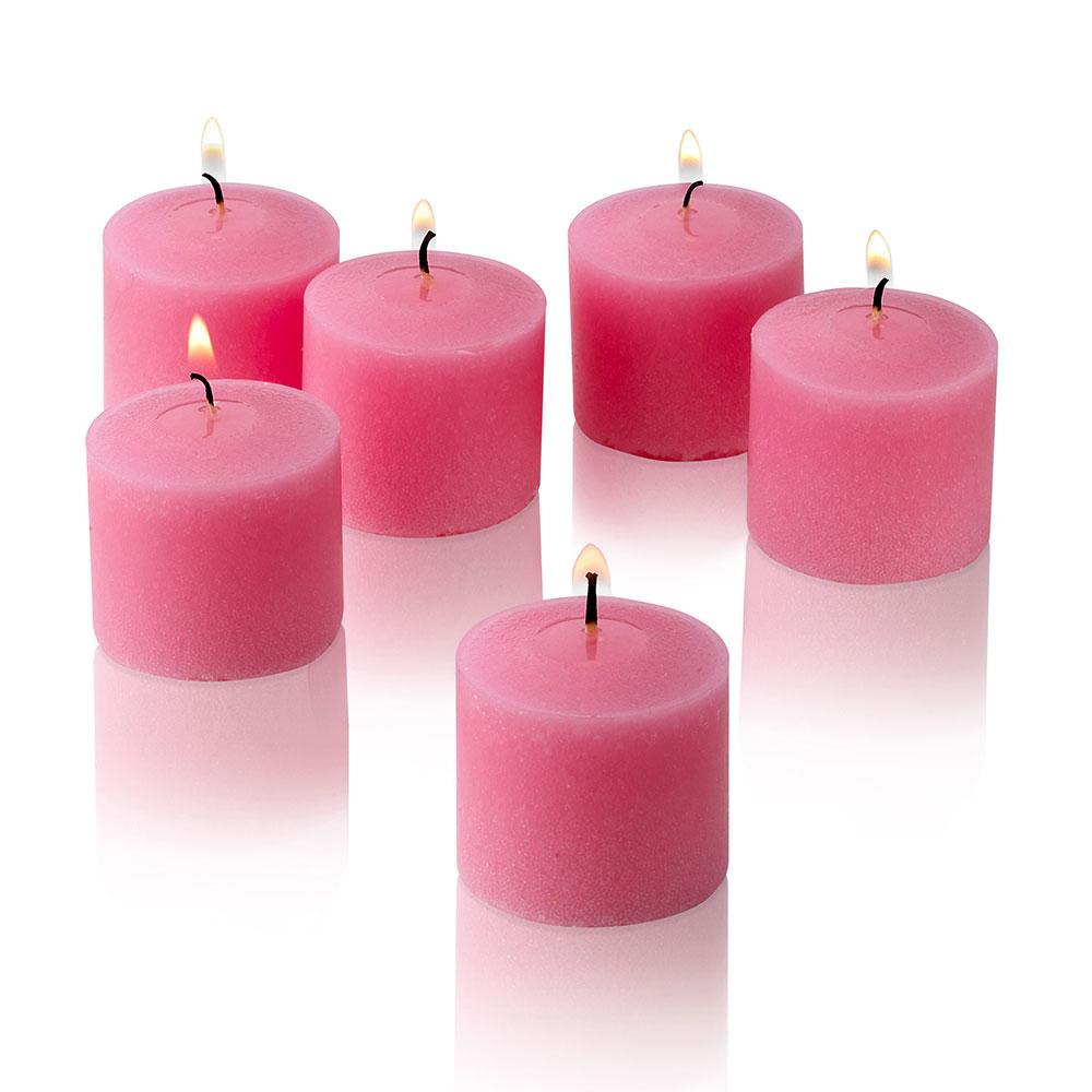 Pink Rose Garden Scented Votive Candles Set of 36 Burn 10 Hours