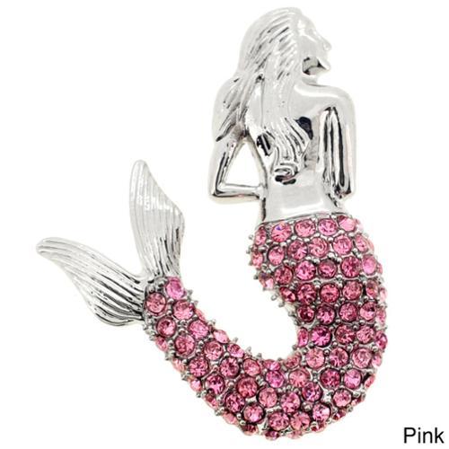 Fantasyard Rose Mermaid Pin Brooch Pendant by Overstock