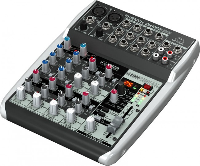 Behringer Xenyx QX1002USB 10-Input Audio Mixer with Klark Teknik FX Processor