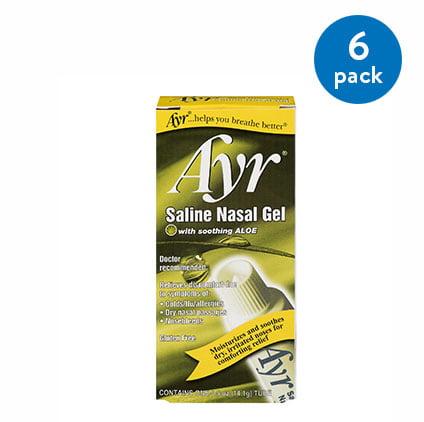 (6 Pack) Saline Ayr Nasal Gel 0.5 oz.