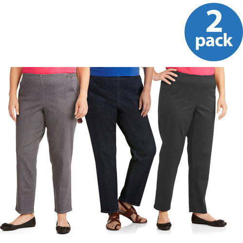 Just My Size Womens Plus-Size Denim Legging 2-Pack Value Bundle