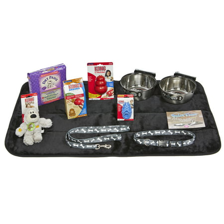 Puppy Starter Kit for Large Dog Breeds, Kit includes: Kong Classic Toys & Treats | Coastal Dog Leash & Collar | MidWest Dog Bowls, Dog Bed & Training (Kong Company Puppy Snaps)