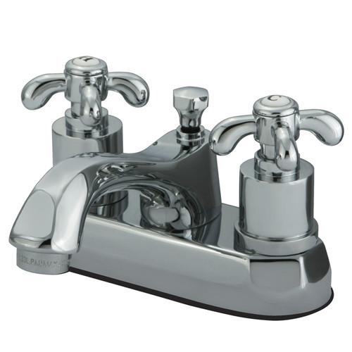 Kingston Brass French Country Double Handle Centerset Bathroom Faucet with Pop-Up Drain