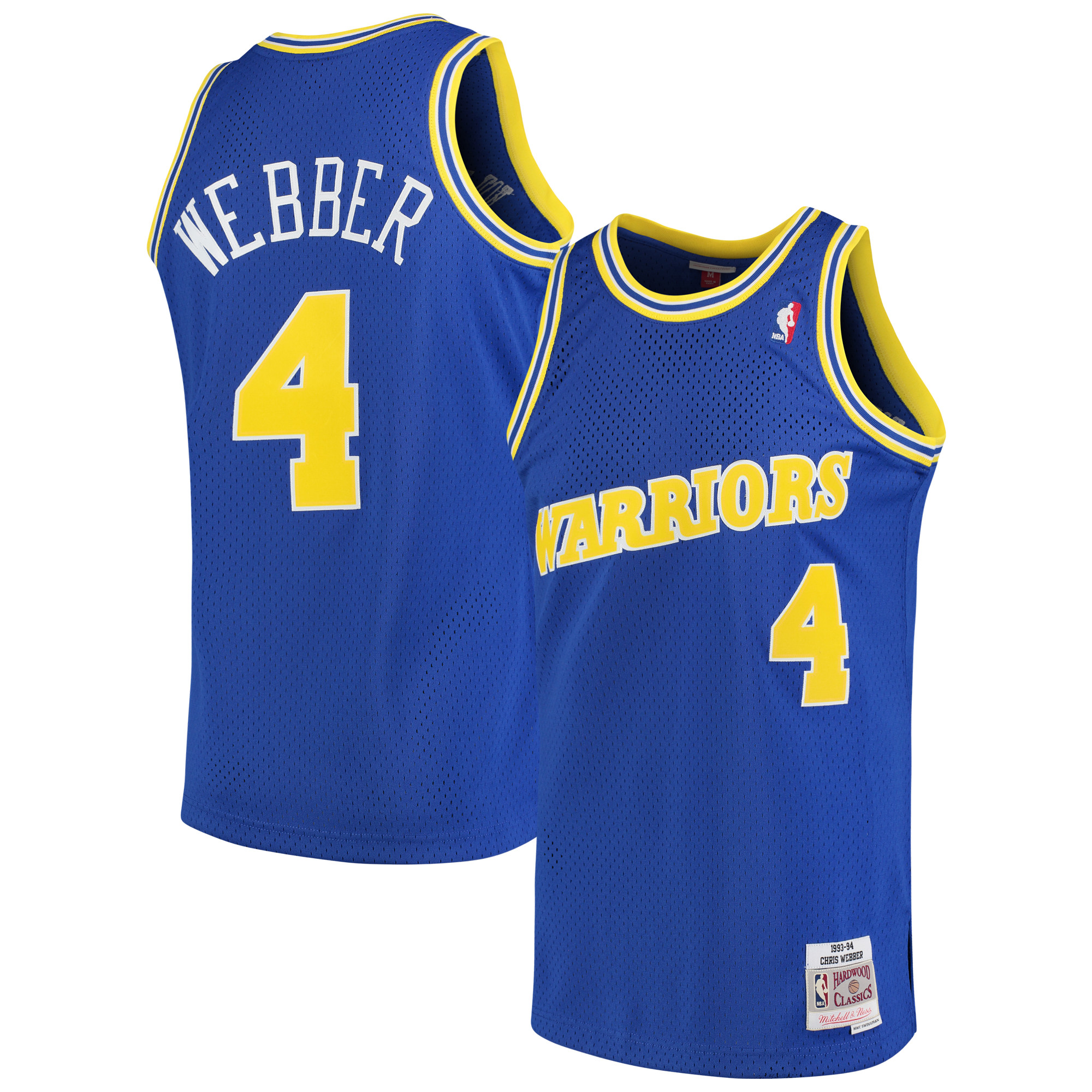 Chris Webber Golden State Warriors Mitchell & Ness 1993-94 Hardwood Classics Swingman Jersey - Royal