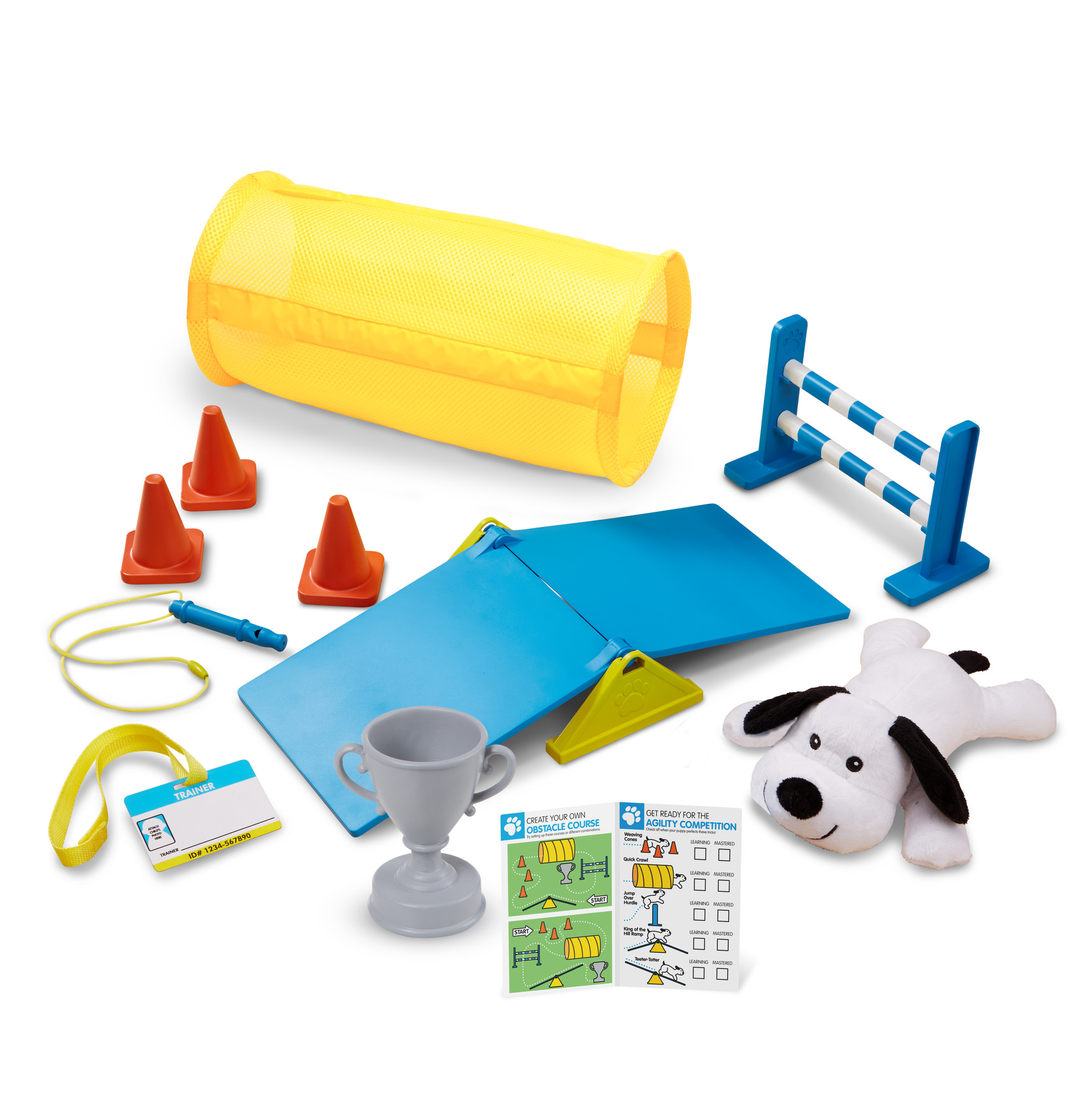 Melissa & Doug Tricks & Training Puppy School Play Set with Stuffed Animal Plush Dog (12 Pcs)