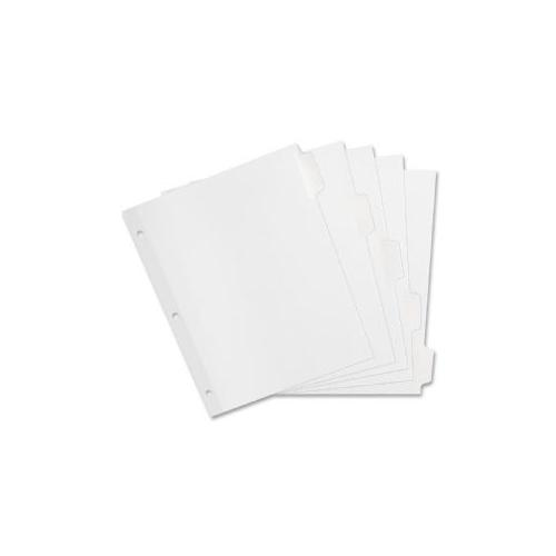 SPARCO PRODUCTS Laser Printer Indexes, Punched, 5-Tab, 1 ST/PK, White