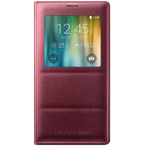 Samsung Galaxy Note 4 S-View Flip Cover, Plum