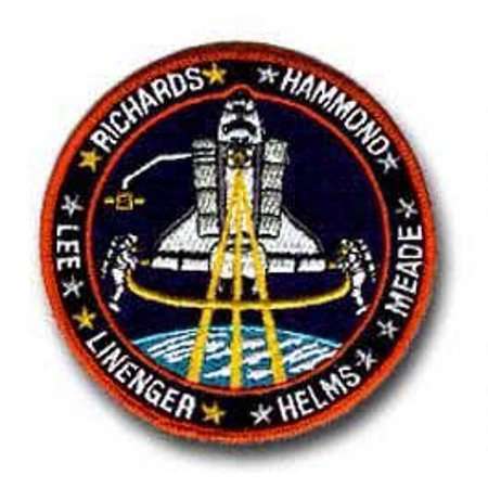 """SPACE SHUTTLE DISCOVERY STS-64 RICHARDS, HAMMOND, LINENGER, HELMS, MEADE, LEE 4"""" Logo Sew Ironed On Badge Embroidery Applique Patch"""