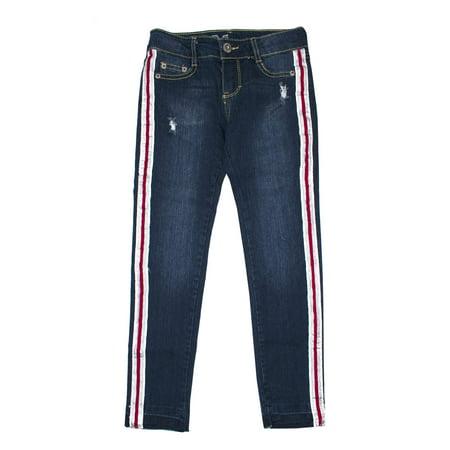 Metallic Athletic Stripe Jean (Big Girls) ()
