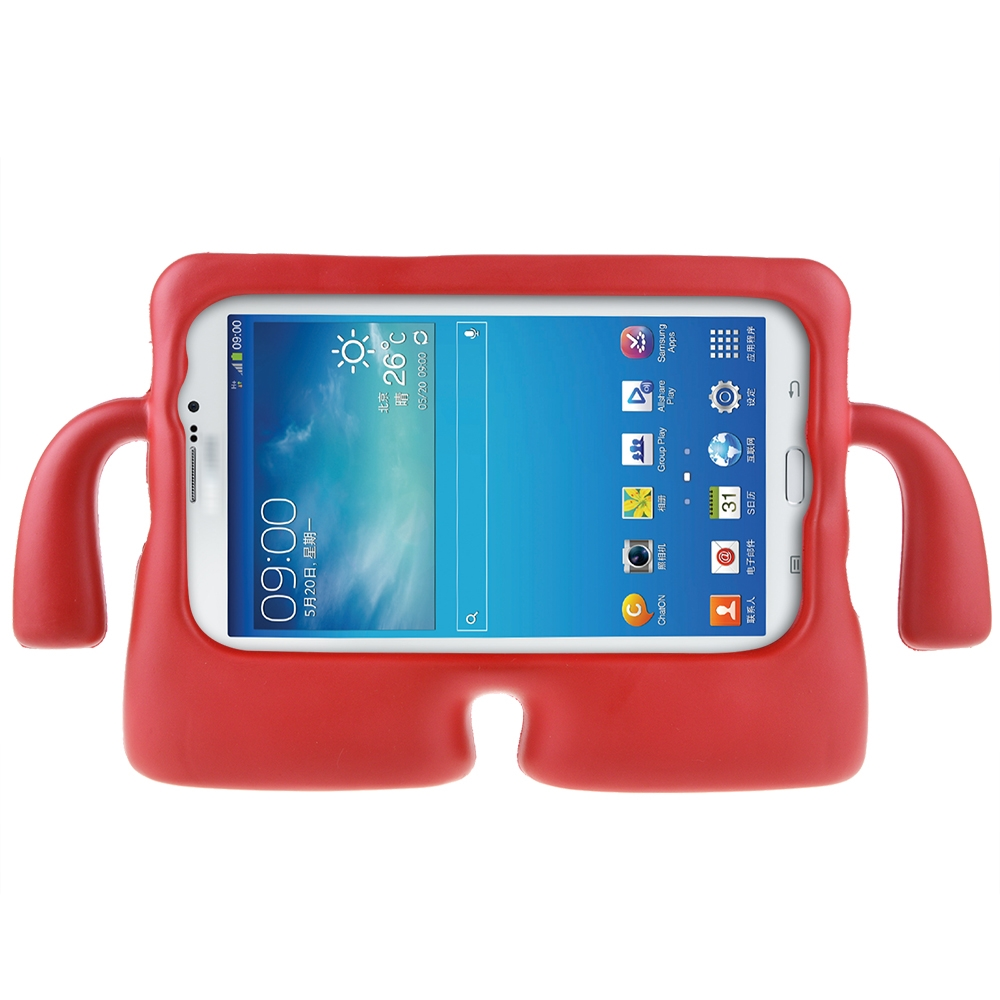 ABLEGRID Protective Rubberise EVA Foam Childproof Shockproof Cover Case Durable Light Weight Cute Cartoon Kids Case for Galaxy Tablet 2 /3 /3 Lite / 4 / Q (7 inch version) (Big Red)
