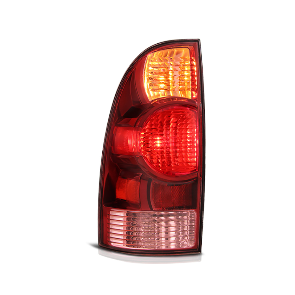 VIPMOTOZ Red Lens OE-Style Tail Light Lamp Assembly For 2005-2008 Toyota Tacoma Pickup Truck