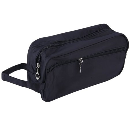 VENSE Toilet Bag Cosmetic Travel Wash Make Up Case Toiletry Compact Bag For Men & Boys Holiday Gifts, Black, - image 7 de 9