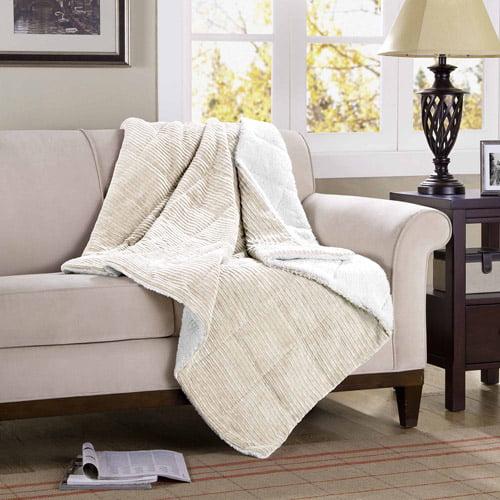 """Comfort Classics Monterey Corduroy Reverse to Berber 50"""" x 60"""" Throw"""