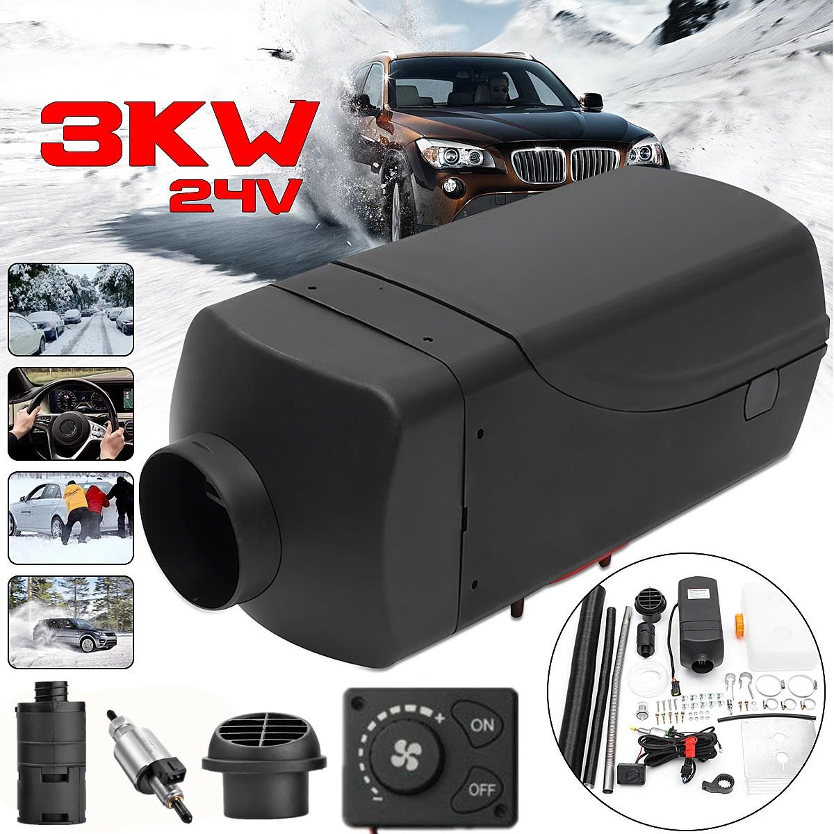 3KW 12V/24V  Car Heater Air Diesel Heater Car Warmer Heating Machine with Digital Switch For Trailer Motorhome Truck Boat Bus