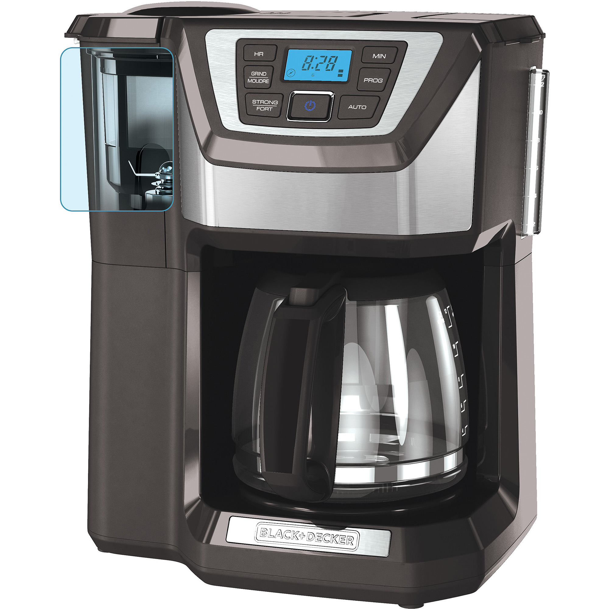 Black and decker 12 cup programmable - Black Decker Mill And Brew 12 Cup Programmable Coffee Maker With Grinder Cm5000gd Walmart Com