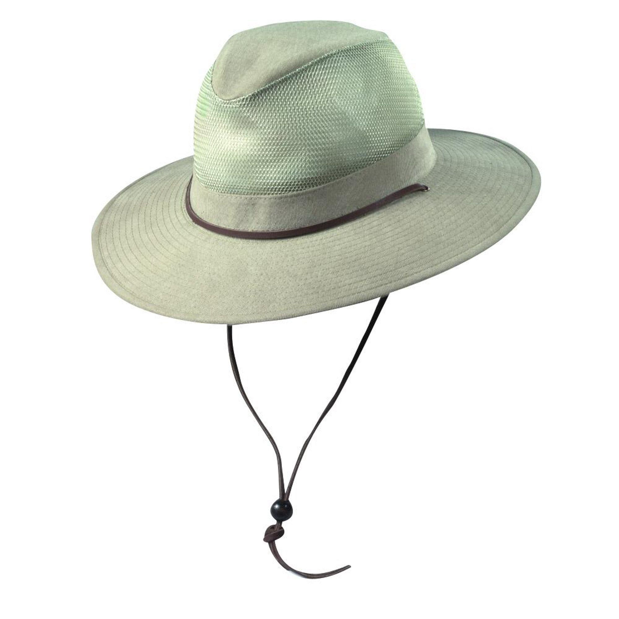 dcc43f02a3a6c Dorfman Pacific Men s Cotton Wide Brim Mesh Safari Hat