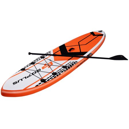 Costway Goplus 10.5' Inflatable Stand Up Paddle Board SUP W/ Fin Adjustable Paddle Backpack
