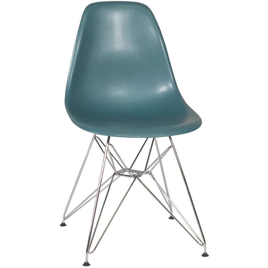 Eames Style Dining Chair With Metal Eiffel Base Walmart Com Walmart Com