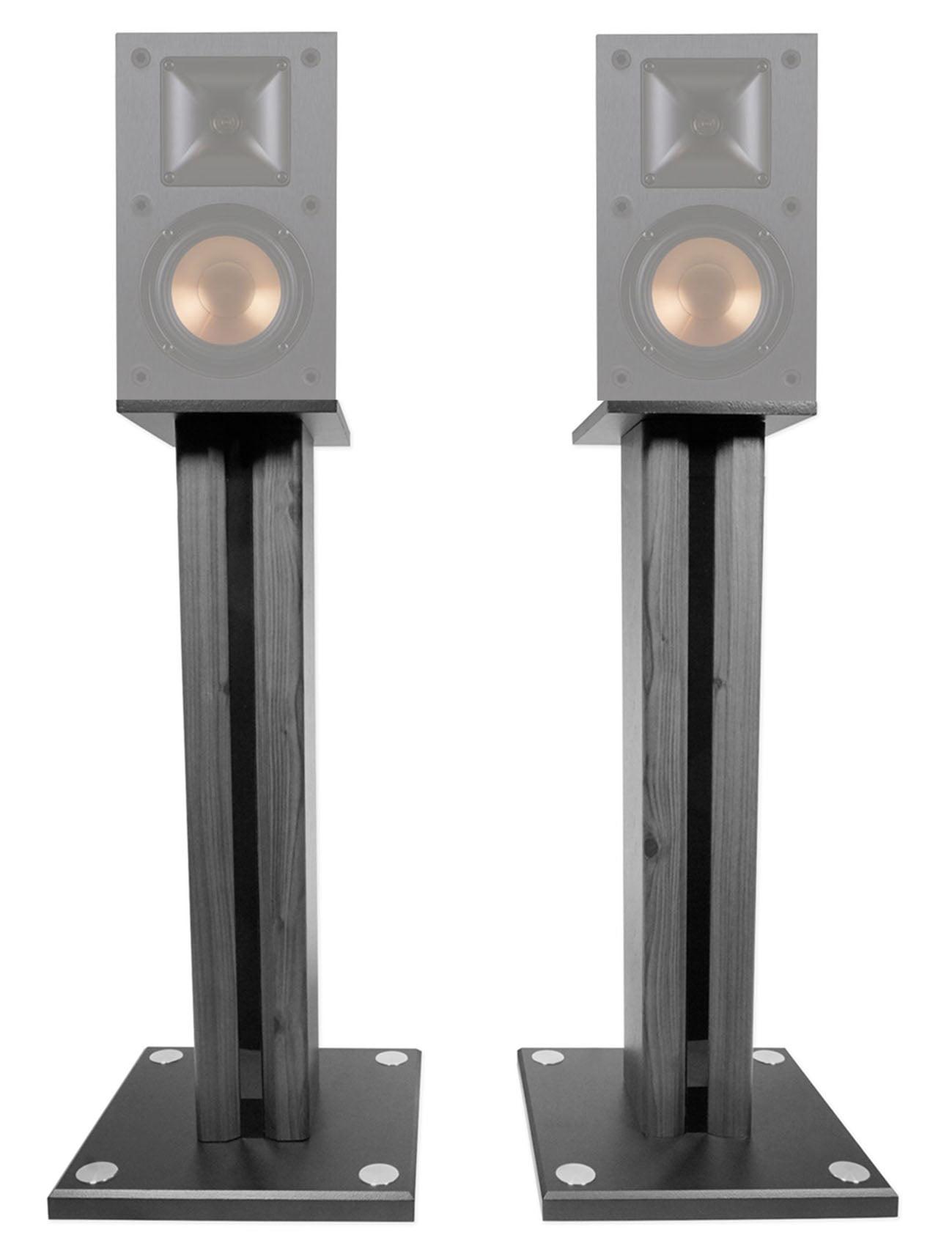"""Pair 26"""" Bookshelf Speaker Stands For Klipsch R-14M Bookshelf Speakers by Technical Pro"""