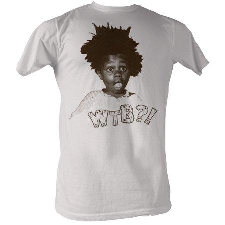 Our Gang Little Rascals 1930's Comedy Buckwheat WTB?! Headshot Adult T-Shirt - image 1 de 1