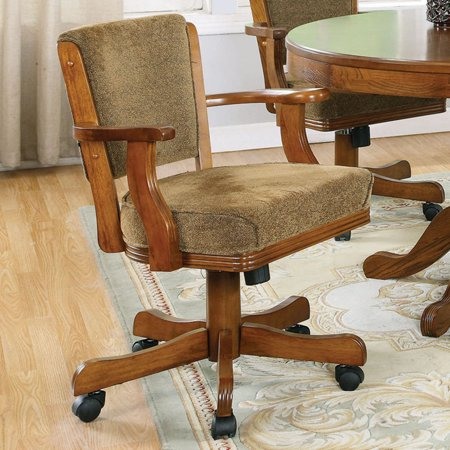 Coaster Company Mitchell Game Chairs in (Merlot Office)