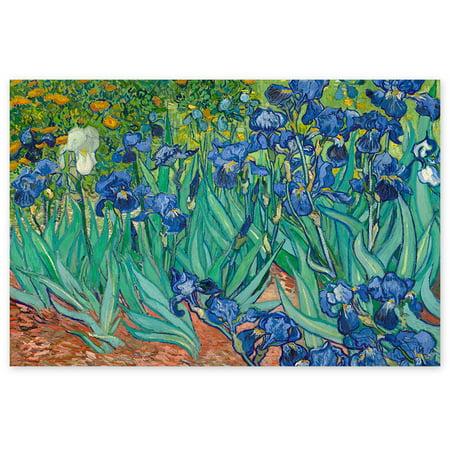 Awkward Styles Vincent van Gogh Canvas Wall Art Irises Classic Canvas Wall Decor Dutch Artist Vincent van Gogh Irises Painting van Gogh Fans Gifts Living Room Decor Ideas Impressionist Painter Art ()