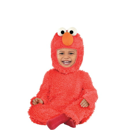 Make It Yourself Baby Halloween Costumes (Suit Yourself Sesame Street Elmo Costume for Babies, Includes a Soft Jumpsuit, Hand Covers, and)