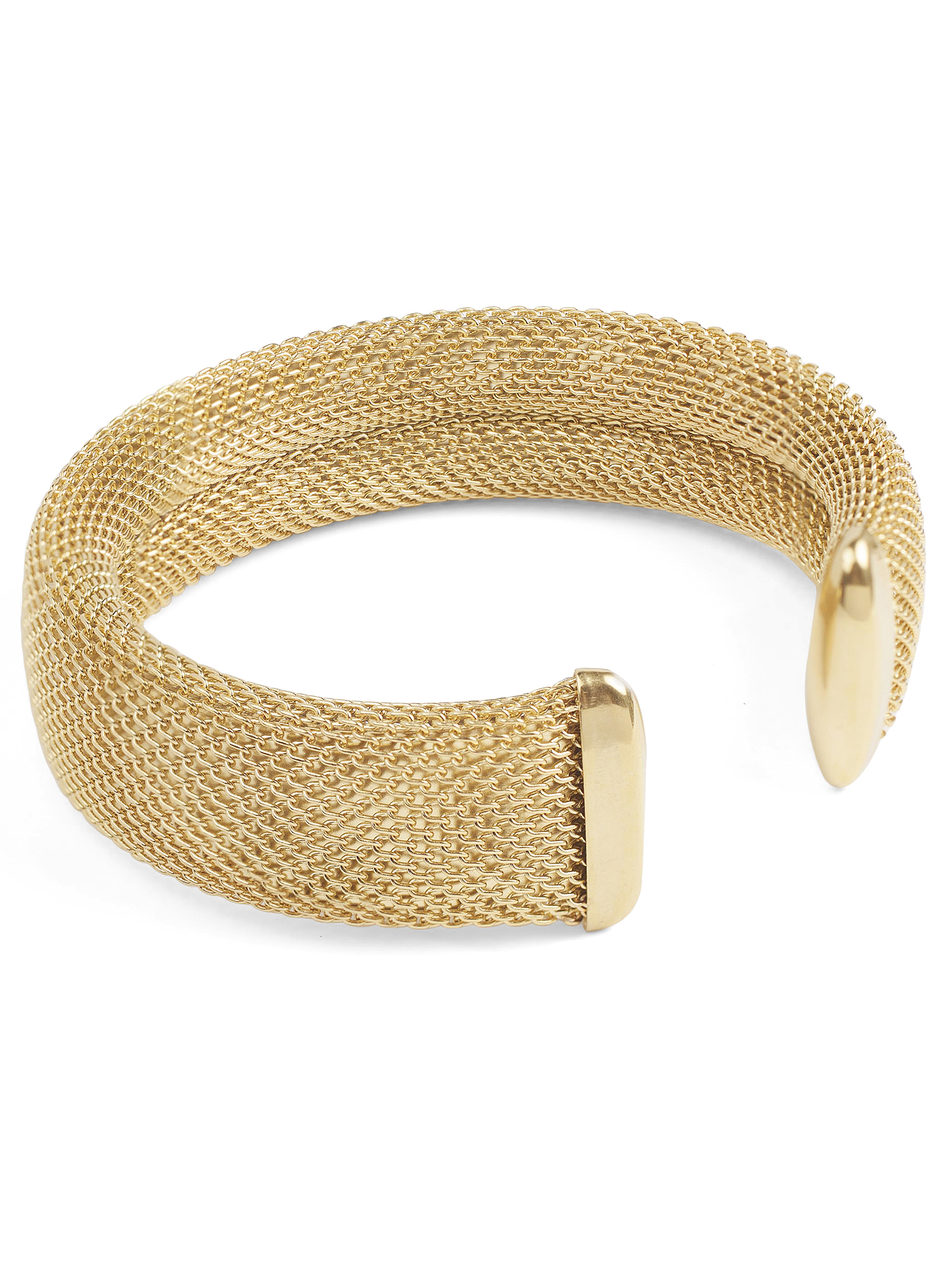 Women's Gold Stainless Steel Mesh Cuff Bracelet