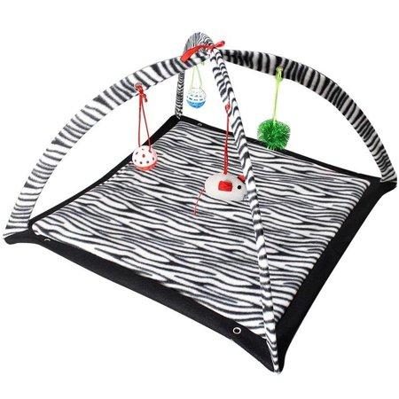 Print Cat Toy - Zebra Print Play Tent Cat Toy