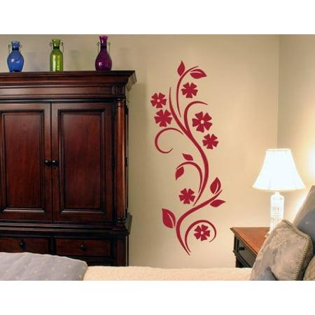 Gold Vine Pattern (Curling Vine Wall Decal - wall decal, sticker, mural vinyl art home decor - 1086 - Hazelnut, 30in x 79in )