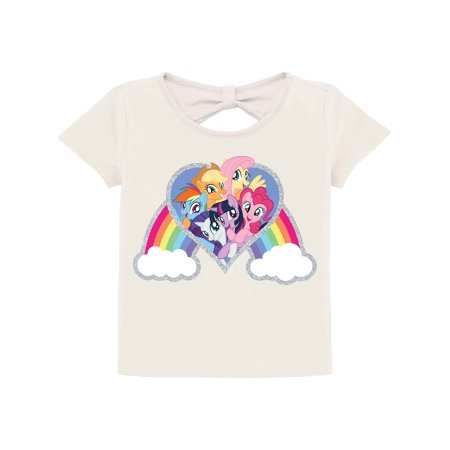 Hasbro My Little Pony Rainbow Knot-Back Graphic T-Shirt (Little Girls & Big Girls)