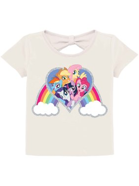 eebd09e42 Product Image MLP Rainbow Knot-Back Graphic T-Shirt (Little Girls & Big  Girls)