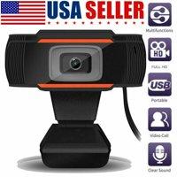 New Webcam Auto Focusing Web Camera Cam w/ Microphone For PC Laptop Desktop (480p)